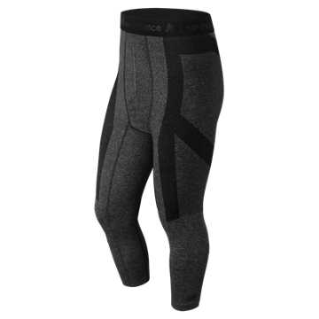 New Balance Cush Flex 3 Qtr Tight, Black