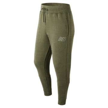 New Balance Heather Sweatpant, Covert Green Heather