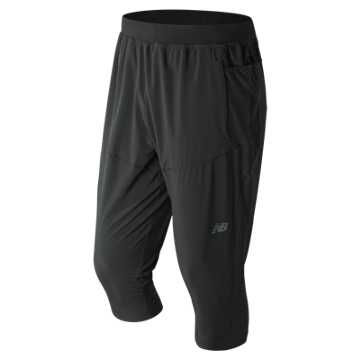 New Balance Q Speed Run 3 Quarter Crop, Black