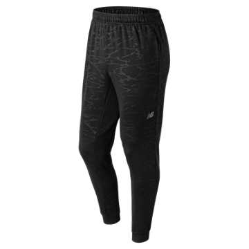 New Balance Embossed Corefleece Jogger, Black