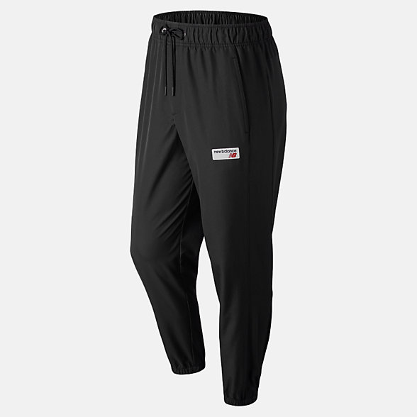 NB Pantaloni NB Athletics Windbreaker, MP91507BK