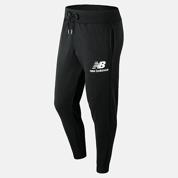 New Balance Pantalon d'entraînement superposé avec logo Essentials, MP91550BK