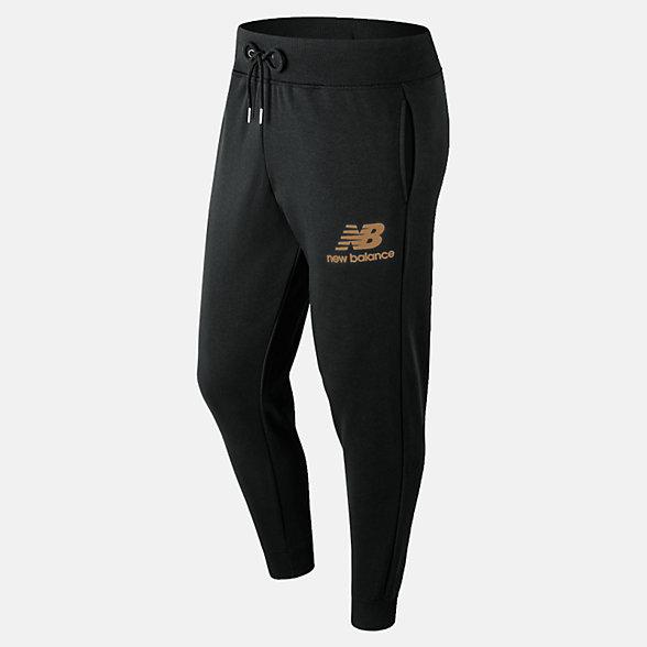 New Balance 篮球休闲系列男款束脚针织长裤, MP91550BM