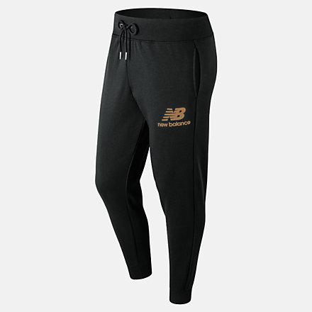 New Balance Pantalon d'entraînement superposé avec logo Essentials, MP91550BM image number null