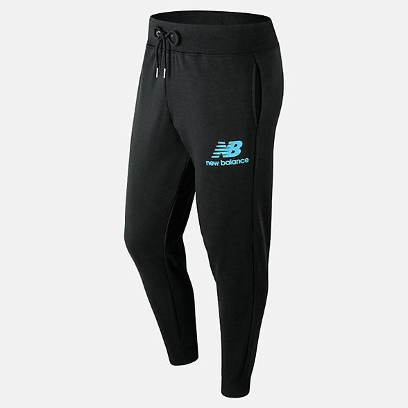 New Balance Pantalon d'entraînement superposé avec logo Essentials, MP91550BYS