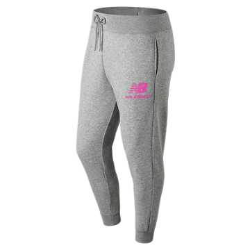 New Balance Essentials Stacked Logo Sweatpant, Peony