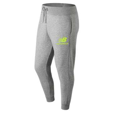 New Balance Essentials Stacked Logo Sweatpant, Sulphur Yellow