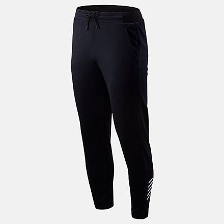 New Balance Tenacity Fleece Pant, MP93022BK image number null