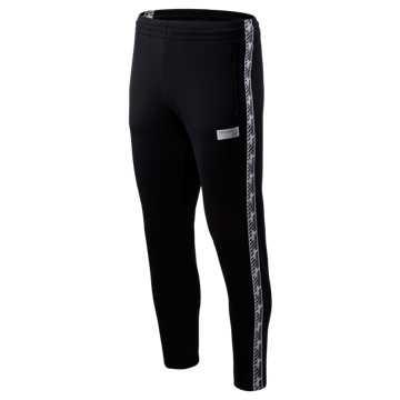 New Balance NB Athletics Classic Track Pant, Black with White