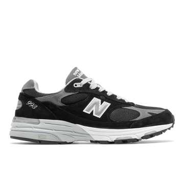 New Balance Made in US 993, Black with Grey