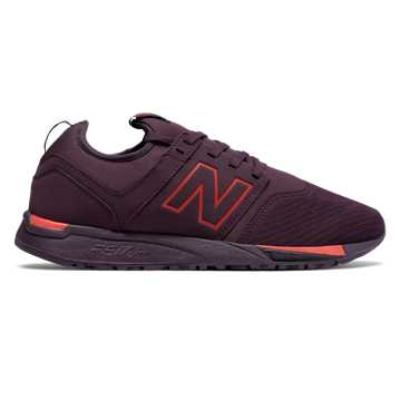 New Balance 247 Classic, Chocolate Cherry with Red