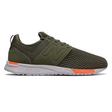 New Balance 247 Sport, Olive with Orange