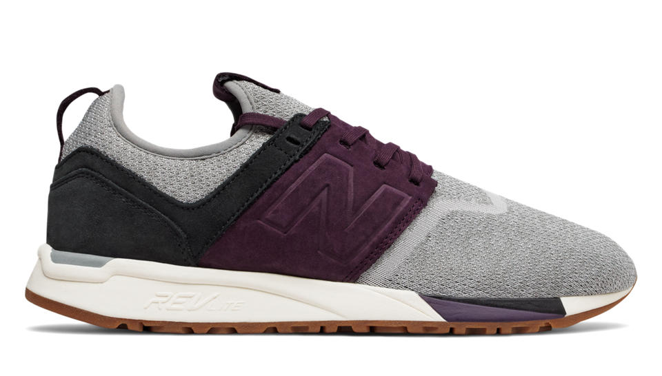New Balance 247 Luxe, Grey with Plum