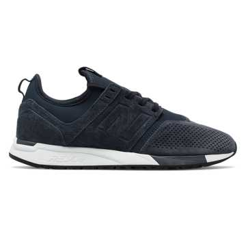 New Balance Suede 247, Navy with White