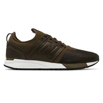 New Balance 247 Leather, Olive with White