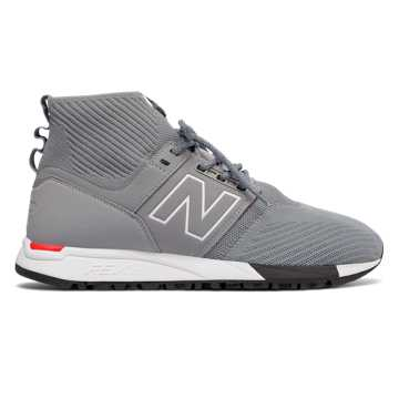 New Balance 247 Mid, Grey with White