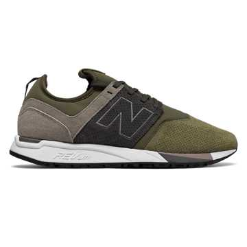 New Balance 247 Luxe, Military Green with Beige