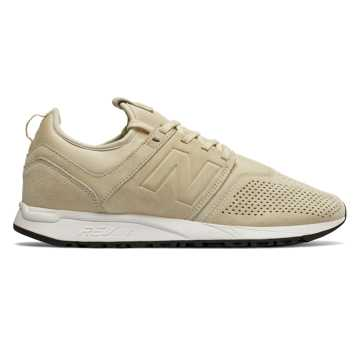 New Balance 247 Suede, Sand with White