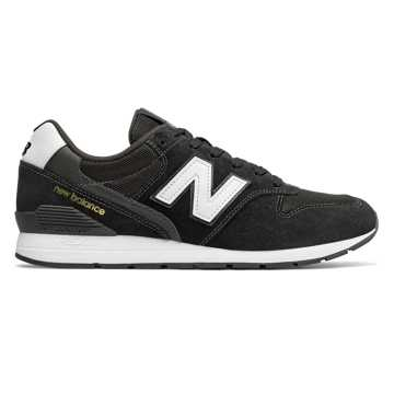New Balance 996系列男女同款復古休閑鞋    , 黑色