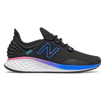 New Balance Fresh Foam Roav Boundaries, Black with Vivid Cobalt
