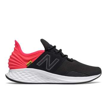 New Balance Fresh Foam Roav, Black with Energy Red & Magnet