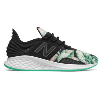 New Balance Fresh Foam Roav, Black with Neon Emerald & White Munsell