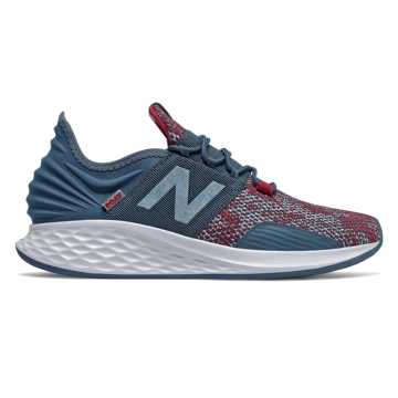 New Balance Fresh Foam Roav City Grit, Stone Blue with Neo Crimson