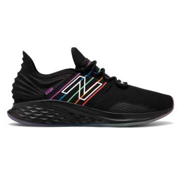 New Balance Men's Fresh Foam Roav Pride Pack, Black with Rainbow