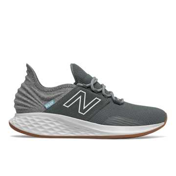 New Balance Fresh Foam Roav Tee Shirt, Lead with Light Aluminum
