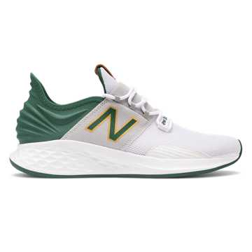 New Balance Fresh Foam Roav, White with Green & Yellow