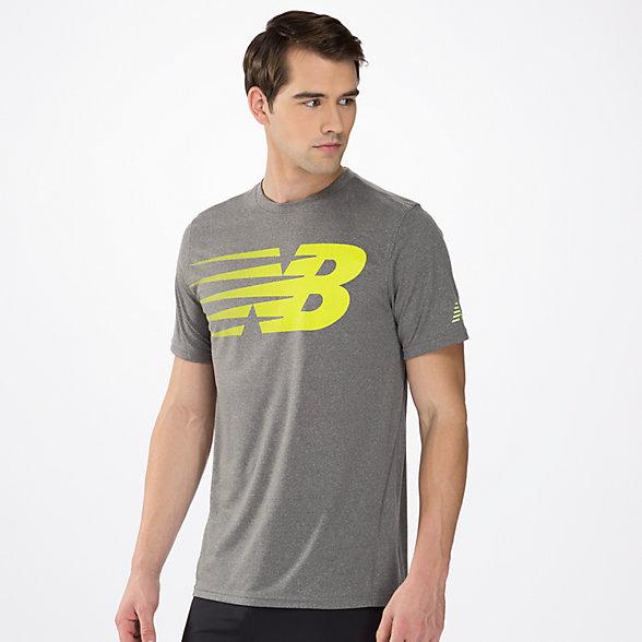 New Balance Heathered Short Sleeve, MRT2338TMGT