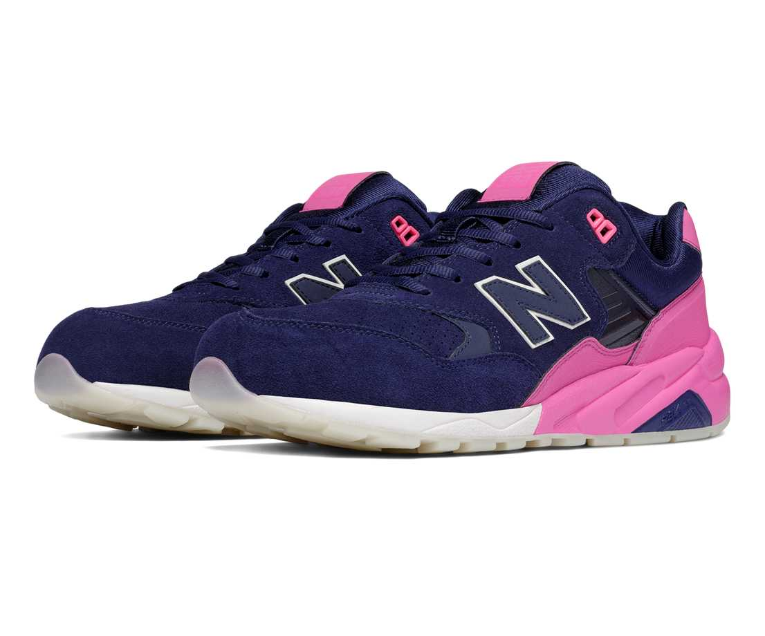 New Balance 580 Elite Edition Solarized, Navy with Pink