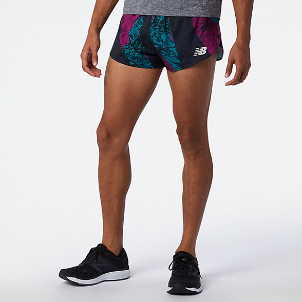 NB Printed 3 Inch Split Shorts, MS01227JJL