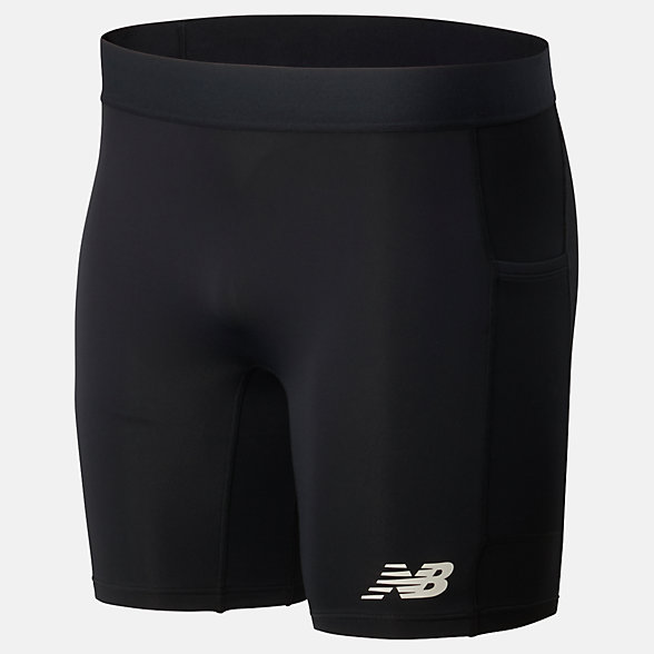 New Balance Fast Flight 8 Inch Fitted Short, MS01229BK