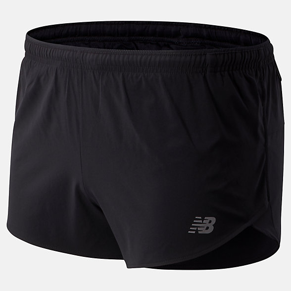 New Balance Impact Run 3 Inch Split Short, MS01239BK