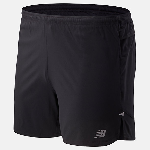 New Balance Impact Run 5 Inch Short, MS01241BK