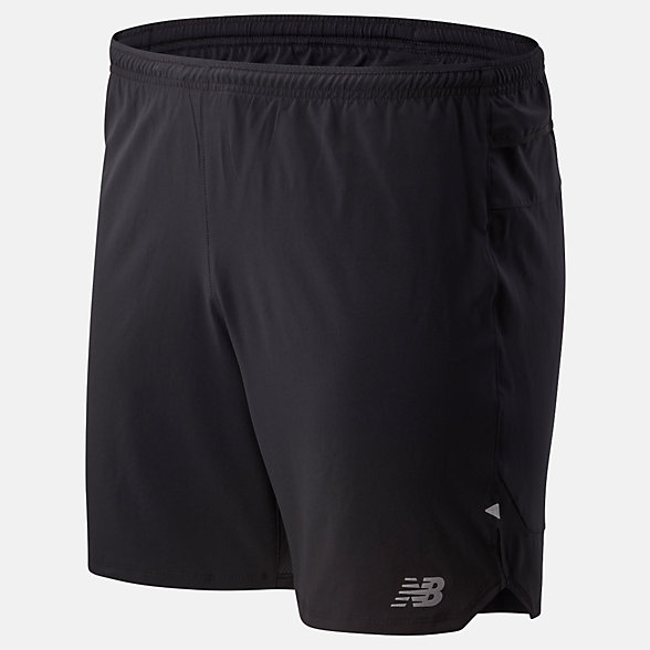 NB Impact Run 7 Inch Short, MS01243BK