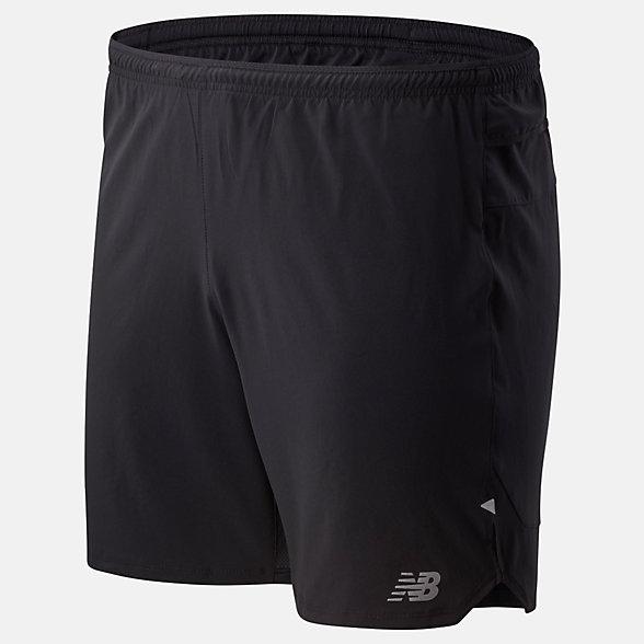 New Balance 男款速干运动短裤, MS01243BK