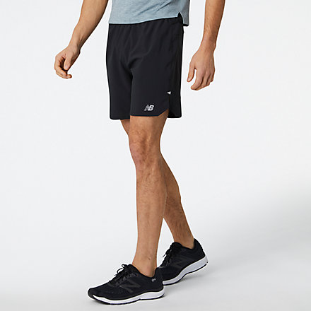 New Balance Impact Run 7 Inch Short, MS01243BK image number null