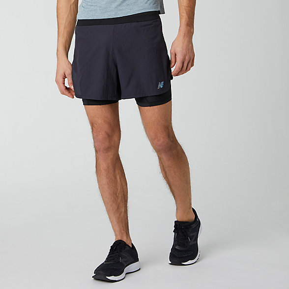 New Balance Q Speed 5 Inch 2 In 1 Short, MS01271BK