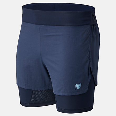 New Balance Q Speed 5 Inch 2 In 1 Short, MS01271ECL image number null