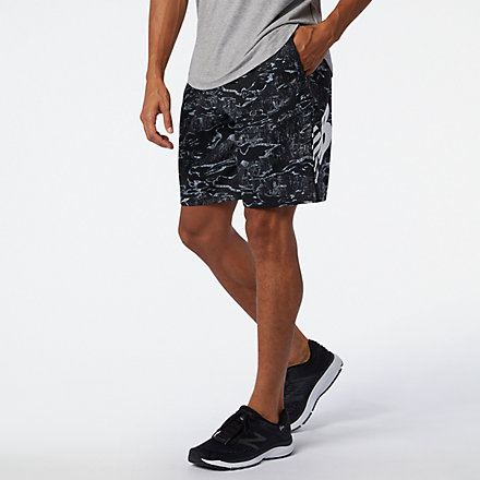 New Balance Tenacity 9 inch Printed Woven Short, MS03014BK image number null