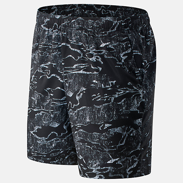 New Balance Tenacity 7 inch Printed Woven Short, MS03019BM