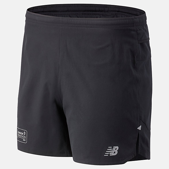 NB London Acceptance Impact Run 5 Inch Shorts, MS03241DBK