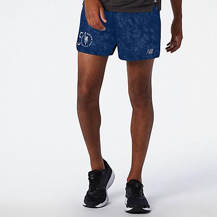 NB Pantalones cortos NYC Marathon Printed Impact Run 5 Inch, MS03242MRGV image number null
