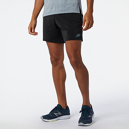 New Balance Q Speed Fuel 7 Inch Short, MS03263BK image number null