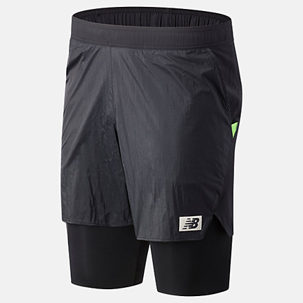 New Balance PMV All-Terrain 2 In 1 Short, MS03282BK image number null