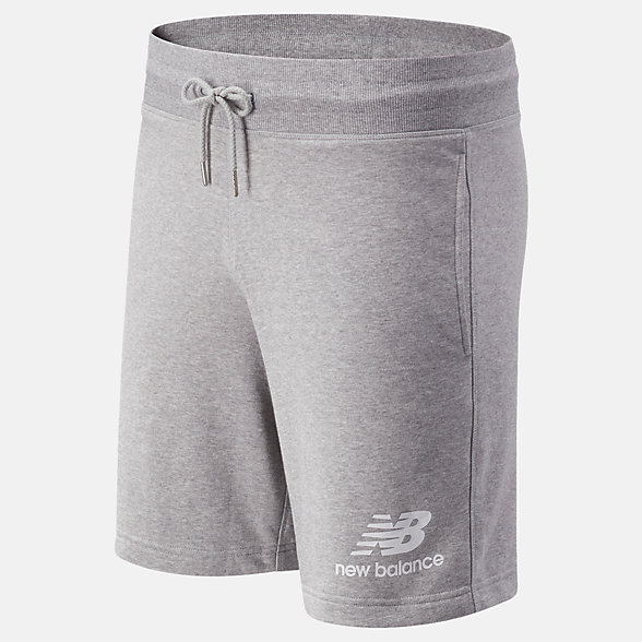 NB NB Essentials Stacked Logo Short, MS03558AG