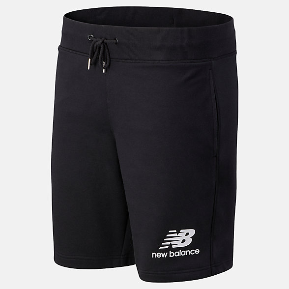 NB NB Essentials Stacked Logo Short, MS03558BK