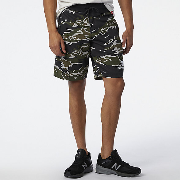 NB Essentials Stacked Short AOP, MS03559BM